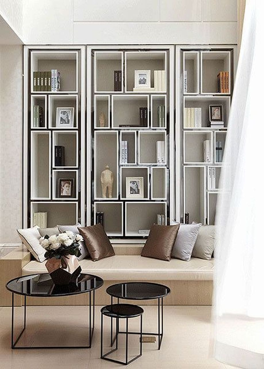 Brilliant Built In Shelves Ideas For Living Room 58