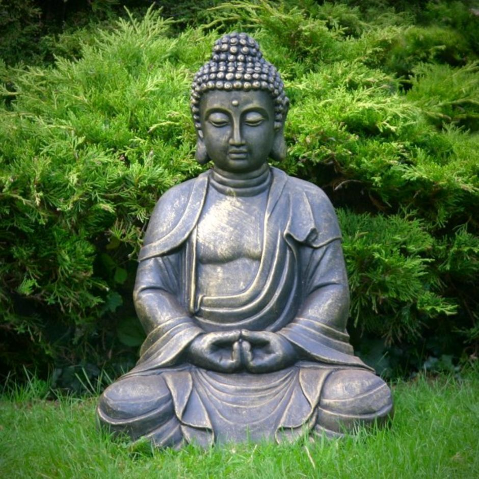 awesome buddha statue for garden decorations 68. Black Bedroom Furniture Sets. Home Design Ideas